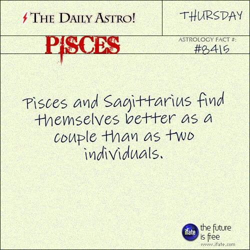 Pisces and Sagittarius