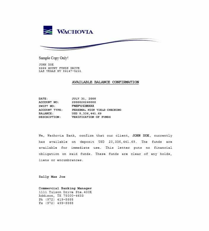 Proof Of Funding Letter Sample Inspirational 25 Best Proof Of