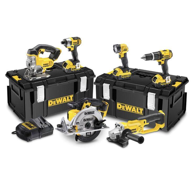 DEWALT DCK691M3-GB 18V 4.0Ah Li-Ion XR 6-Piece Cordless Power Tool Kit