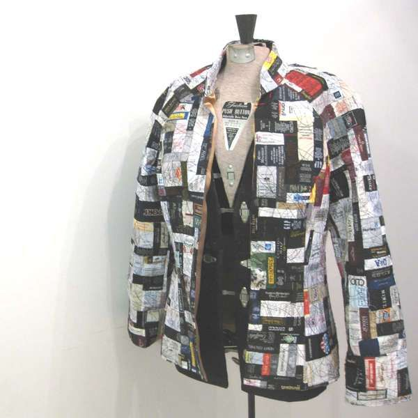 Upcycled Fashion Tags - Undone Clothing Jacket. We could do this for cheap, and make something pretty cool looking for one of the guy fairies.