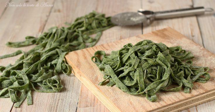 Tagliatelle+di+spinaci+fatti+in+casa