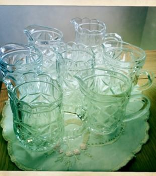 Sell My Wedding - Sell My Wedding - Bambi221 - 7 x Vintage Glass milk jugs