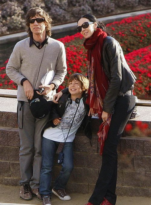 ,Lucas Maurice Morad Jagger with his parents... Mick & (ex ...