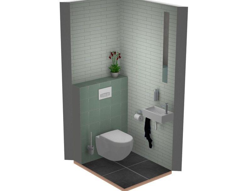 Gekleurde tegels in bijzondere toilet, landelijke stijl