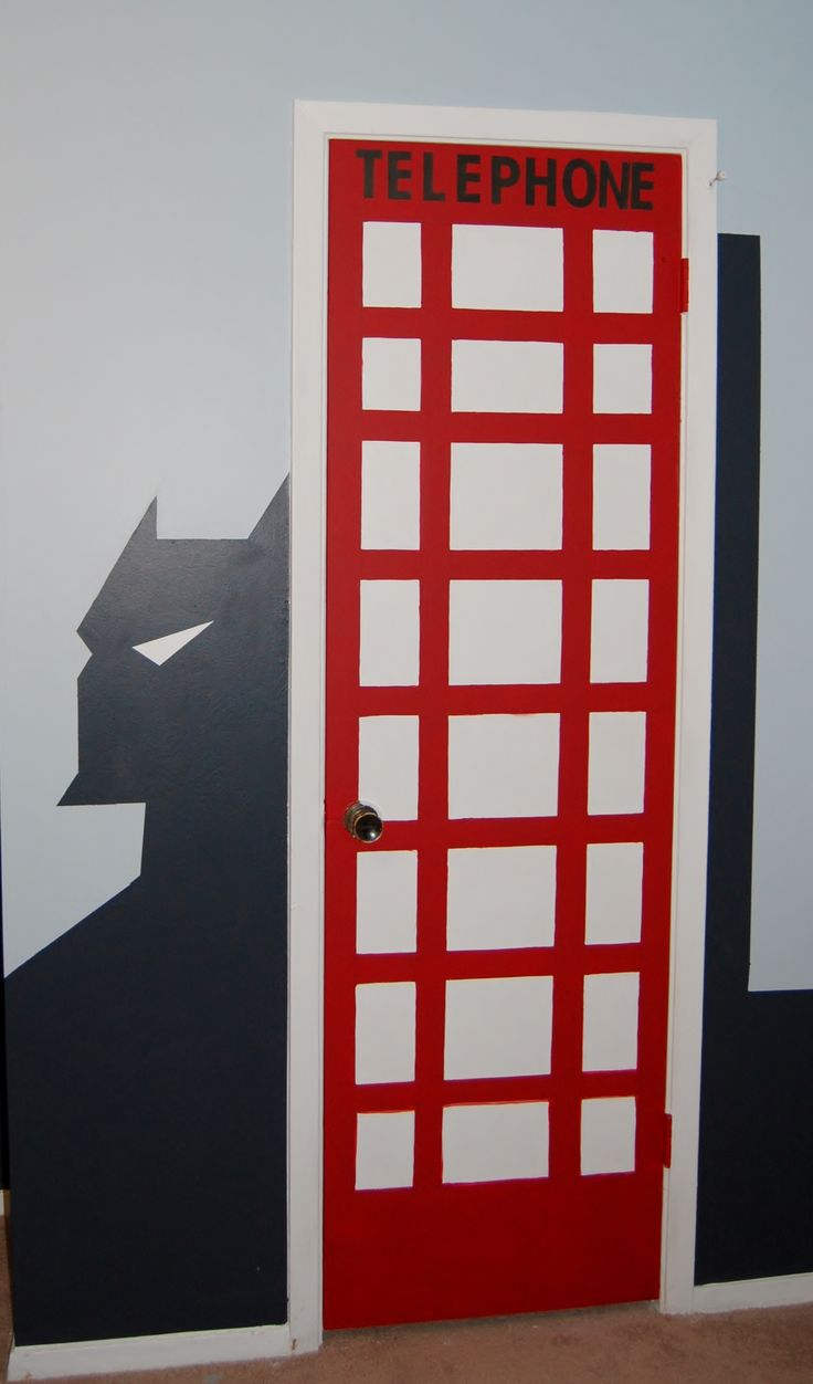 Superhero bedroom - Superhero Bedroom Telephone Booth Dyi Batman