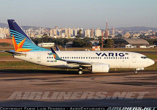 Boeing 737-700 Varig Brazil in Porto Allegre