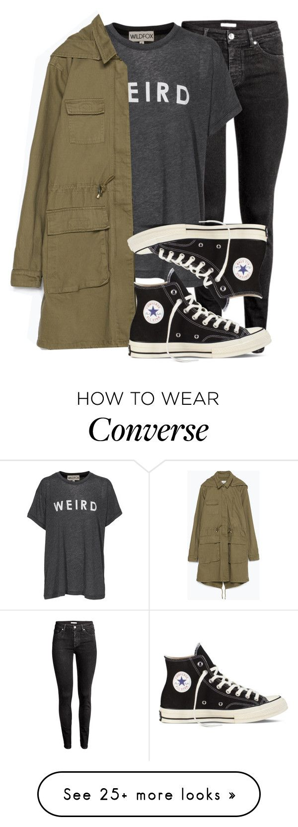 """Untitled #1852"" by feathersandroses on Polyvore featuring Wildfox, Zara and Converse"