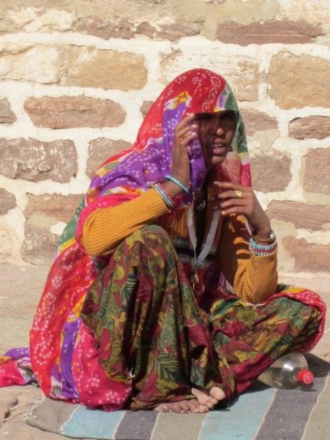 Woman singer. Jodhpur.