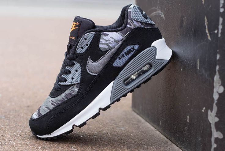 the best attitude 1797b dcf18 Preview  Nike Air Max 90 GS   Black   Camo     Sneakers in Women s Sizes    Pinterest   Free Runs, Runs Nike and Nike Free Runs