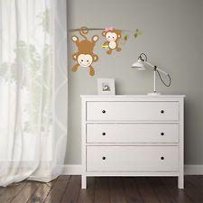 Luxury Affen am Ast Wandtattoo Aufkleber Sticker Kinderzimmer Tiere Baby Affe A
