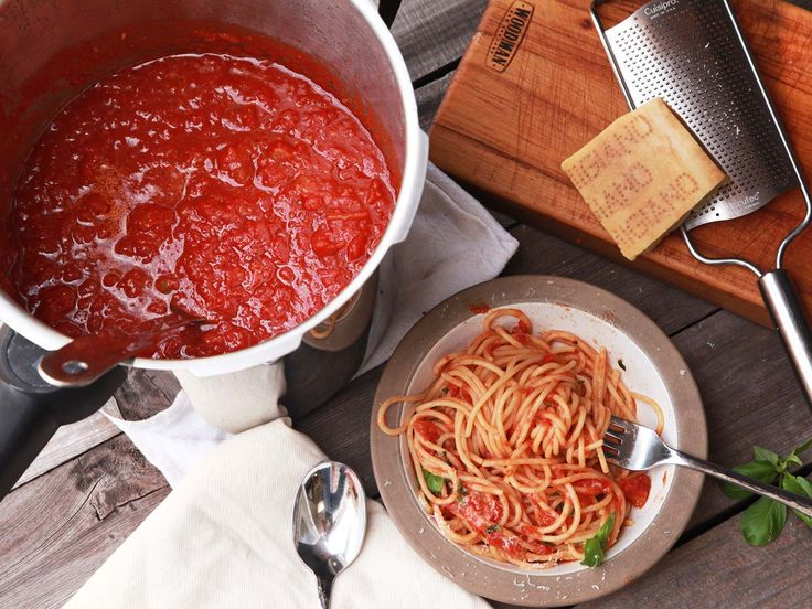 The pressure cooker gives you a red sauce with all-day flavor on a weeknight schedule.  serious eats