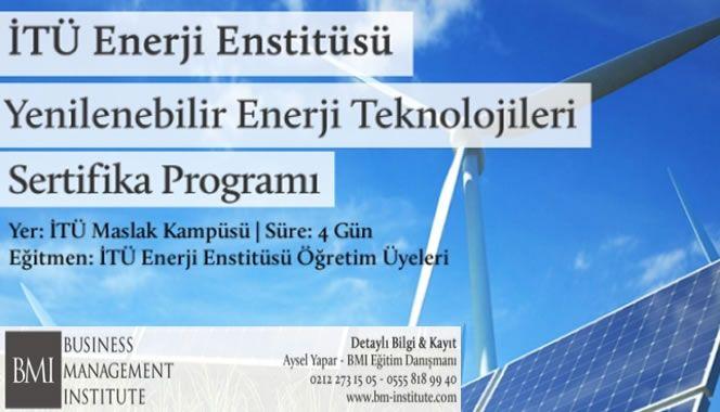 İTÜ Enerji Enstitüsü – Yenilenebilir Enerji Eğitimi 2017