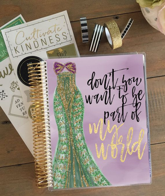 Disney Princess Planner Cover: Erin Condren & Happy Planner Sizes, Ariel Planner Cover, Disney Planner Cover Little Mermaid