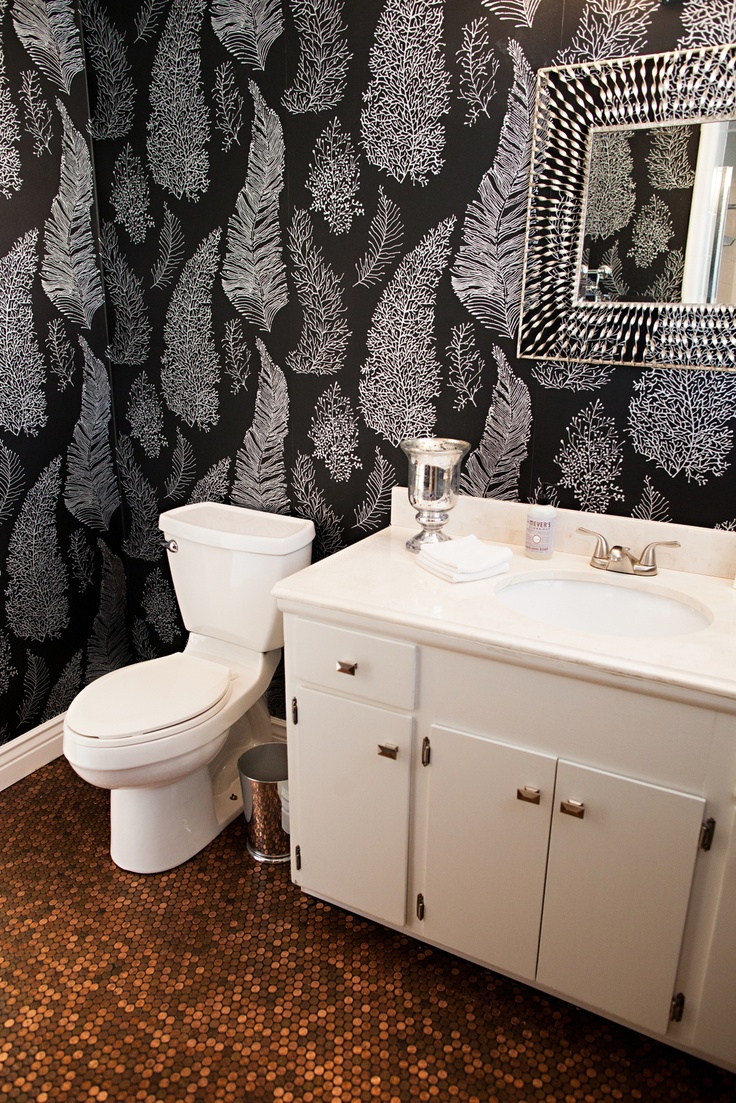 Wall coverings for bathroom - Find This Pin And More On Brooklyn Lair Bathroom Remodel