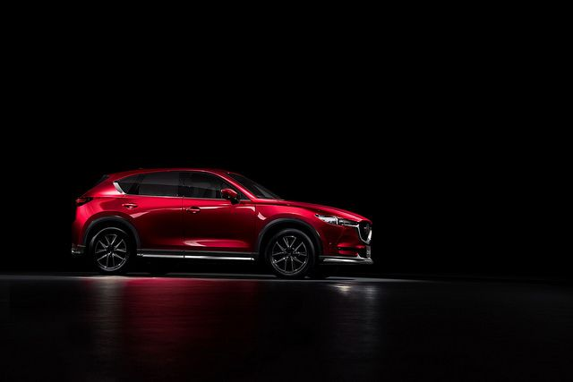 The new Mazda CX-5 stands out even in the darkest of rooms.
