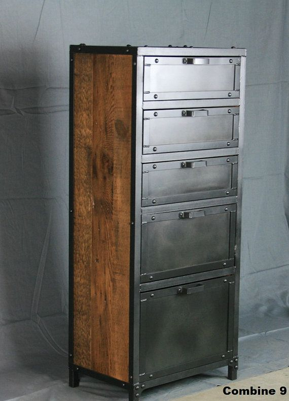 The vintage industrial lingerie chest is a practical and stylish way to store ne…