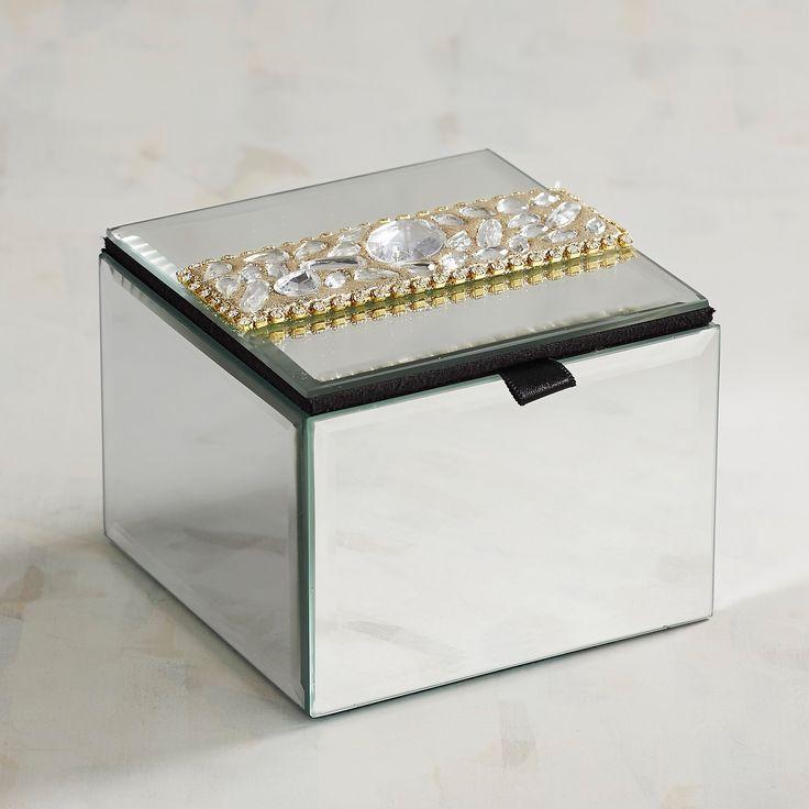 Bejeweled & Mirrored Jewelry Box