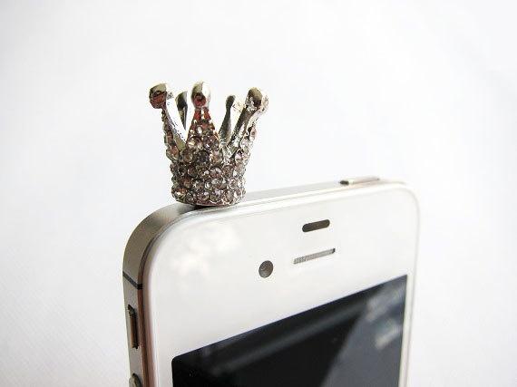 ♥ iPhone earphone dust plug crown ♥