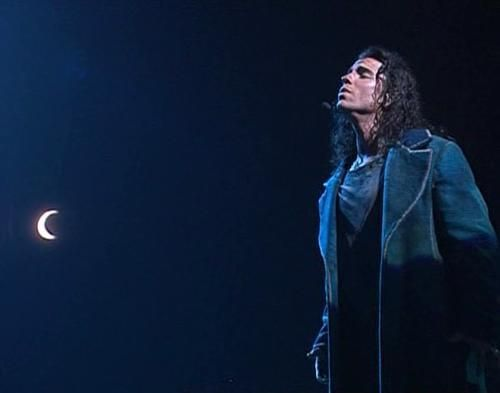 "Bruno Pelletier as Gringoire in ""Notre-Dame de Paris""  --  Why yes I was inspired to buy a very similar looking coat because of Bruno Pelletier's Gringoire..."
