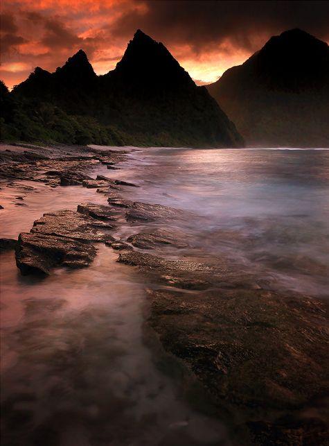 mysterious otherland :: sunrise on ofu beach, ofu island :: american samoa park in american samoa [michael anderson]