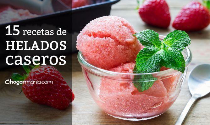 15 recetas de helados caseros   – helados