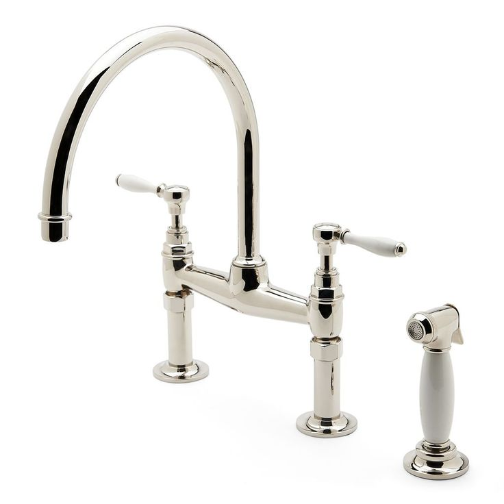 Country Kitchen Faucet Two Handle Porcelain
