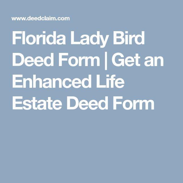 Florida Lady Bird Deed Form Life