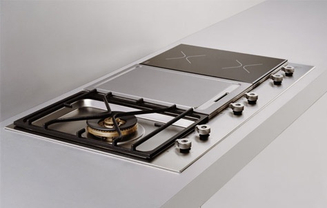 gas and induction cooktops by bertazzoni 3rings dwelling pinterest. Black Bedroom Furniture Sets. Home Design Ideas