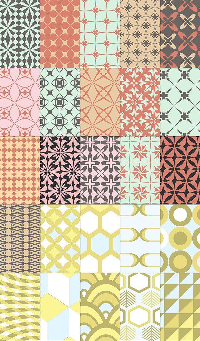 Free download: 25 Retro Patterns http://www.mightydeals.com/deal/25-free-retro-patterns.html