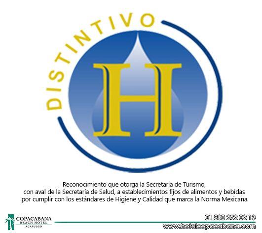 """En un gran orgullo para nosotros, el compartir a todos nuestros huéspedes y usuarios, que el Hotel Copacabana Beach Acapulco ha obtenido exitosamente por décimo quinto año consecutivo, la certificación de """"Distintivo H""""... ¡Gracias por su preferencia! Estamos para servirles, y lo hacemos con mucho gusto."""