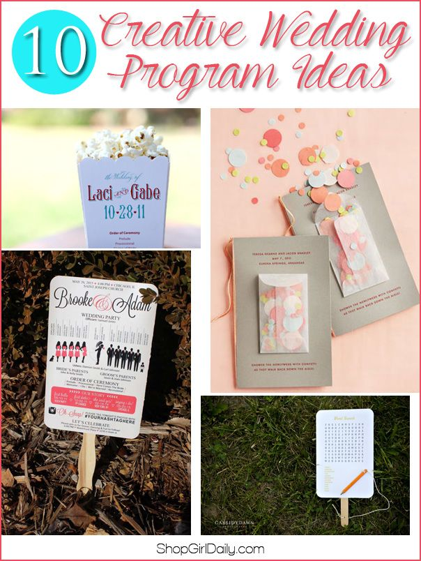 Planning your wedding? Check out these 10 creative wedding program ideas for wedding program inspiration!