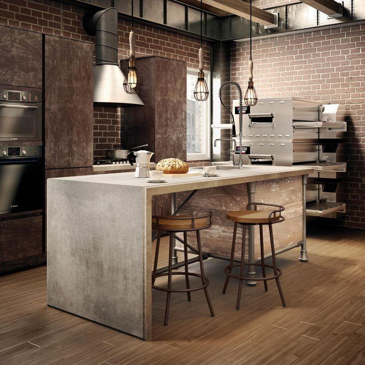 Amisco Bluffton Stool 41565 Furniture Kitchen