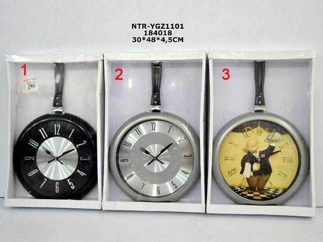Büyük Tavalı Mutfak Duvar Saati  Ürün Bilgisi  Ölçüleri : 30 cm x 48 cm x 4.5 cm Dekoratif pratik mutfak saati