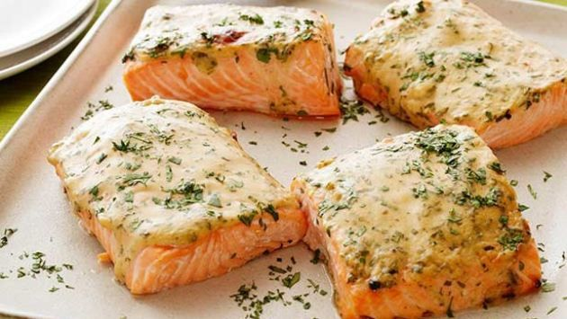 Get Mustard-Maple Roasted Salmon Recipe from Food Network