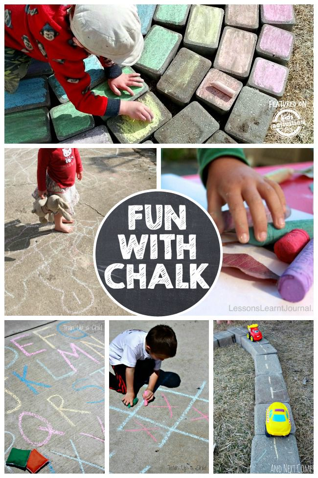 Games with chalk can be so much more than just the simple hopscotch and drawing stick figures! These are so much fun for kids.