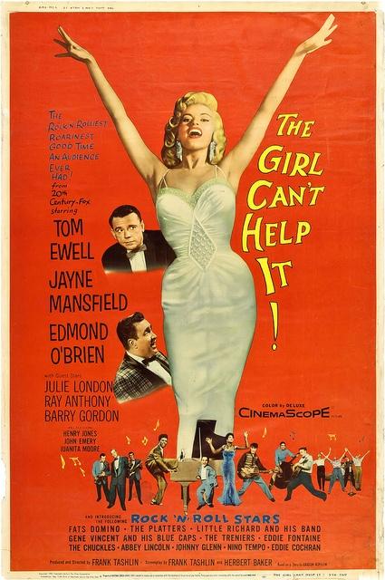 """The Girl Can't Help It"". Jayne Mansfield, Tom Ewell and Edmond O'Brien. Directed by Frank Tashlin, 20th Century Fox, 1956. R"
