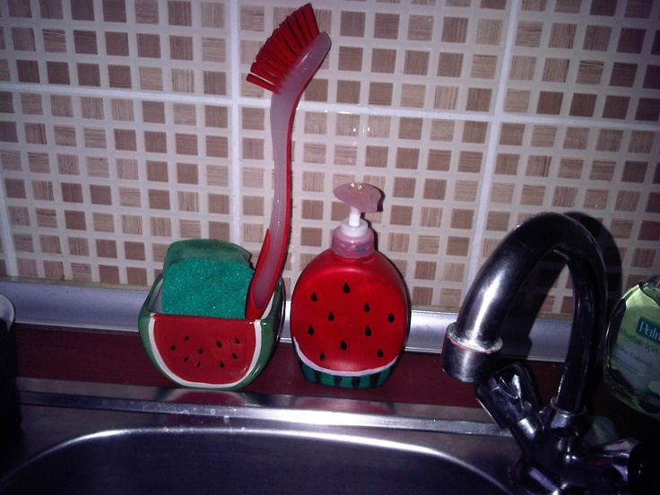 Genial Watermelon Dish Soap Dispenser I Just Paint The Palmolive Hand Soap With  Nail Polish