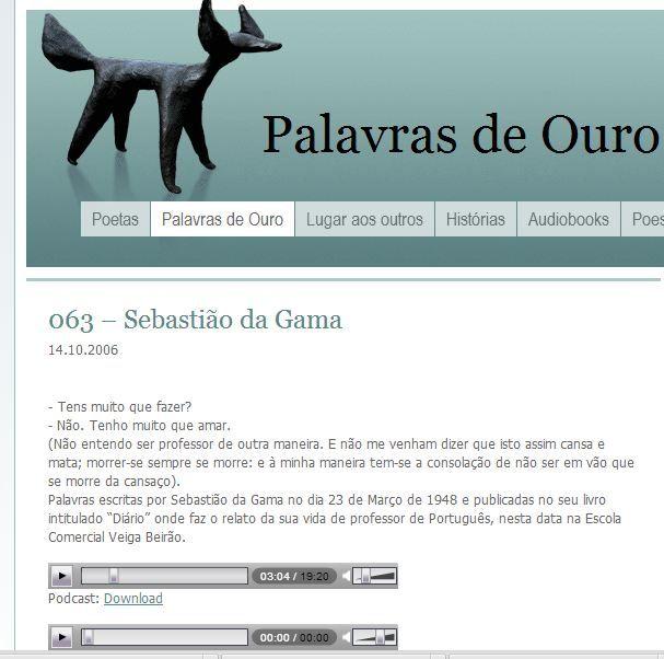 No Estúdio Raposa http://www.estudioraposa.com/index.php/14/10/2006/063-sebastiao-da-gama/