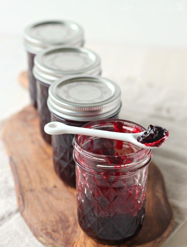 My favorite blackberry jam recipe-turns out firm but super tender.  Seedless Blackberry Jam, Made Simple | Baking a Moment