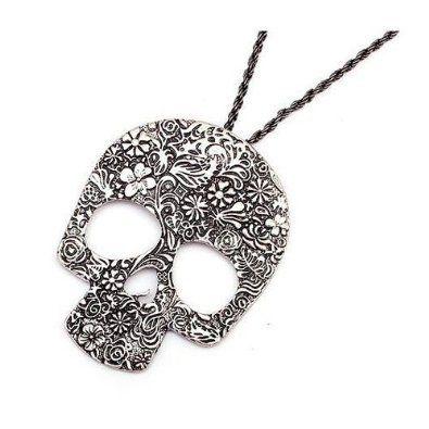 BlueTop(TM) Fashion vintage big skull Pendant With Chain