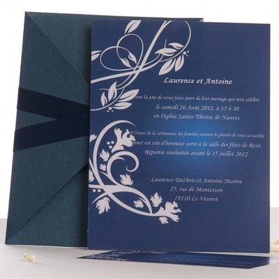 pochette style bleue faire part de mariage tendance jm328 mon mariage pinterest beautiful. Black Bedroom Furniture Sets. Home Design Ideas