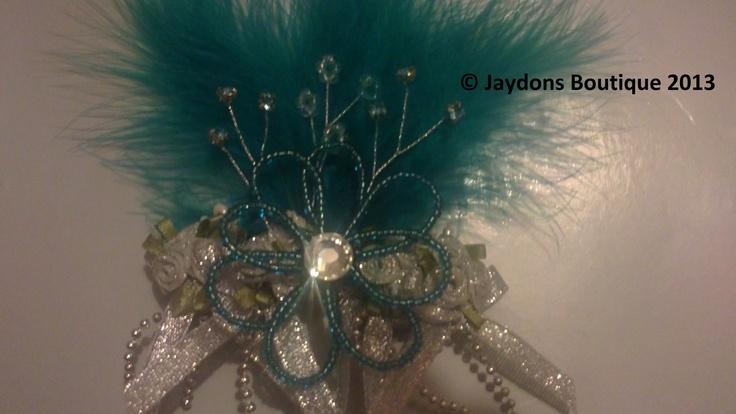 Prepare to get noticed!  Blue Sapphire Hair Slide with a huge Genuine Swarovski Crystal.  Stunning