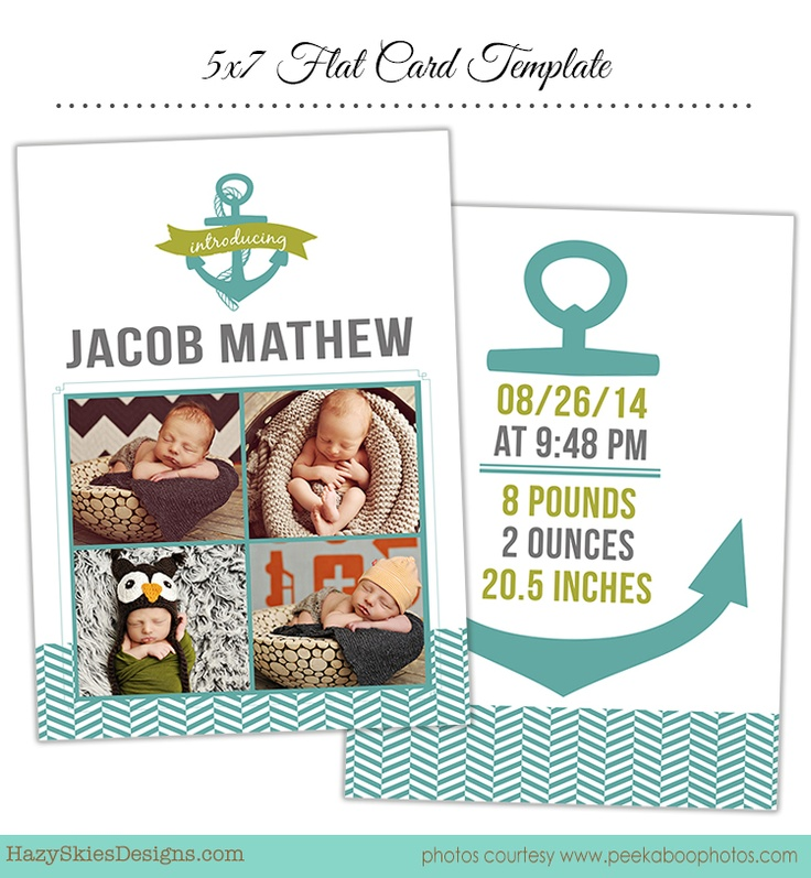 71 best Birth Announcement Templates, Family Photography Templates - announcement template