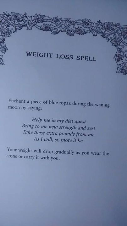 Weight Lost Spell #CroweFeatherWitchDownunder
