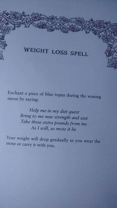 Weight Lost Spell #CroweFeatherWitchDownunder