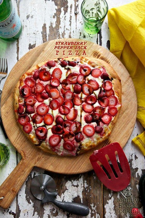 Strawberry & Pepper Jack Focaccia Pizza