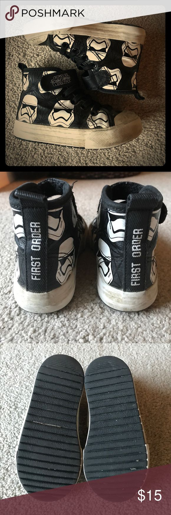 Star Wars First Order Toddler Sneakers H&M toddler sneakers with first order storm trooper design. Good condition. H&M Shoes Sneakers
