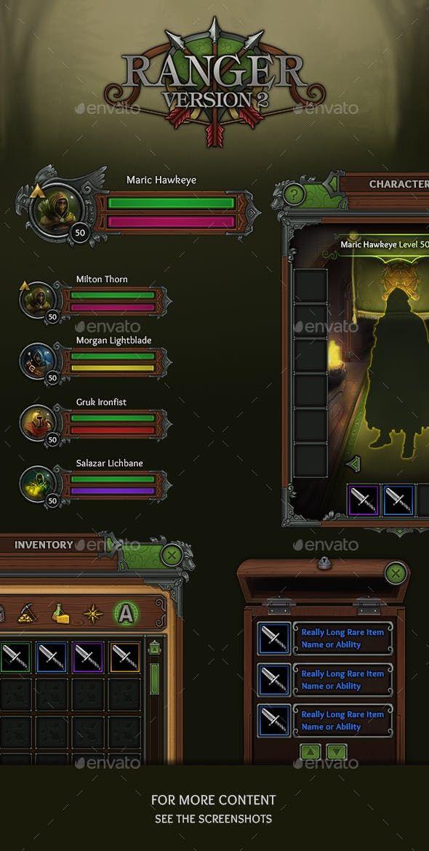 Ranger - RPG User Interface by vengeance_mk1 | GraphicRiver