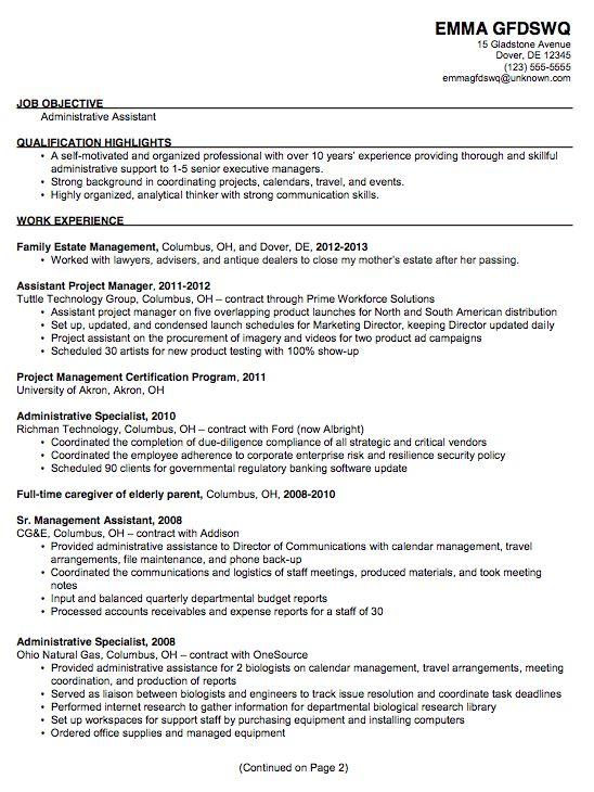 18 Best Resume Images On Pinterest Resume Tips Sample Resume