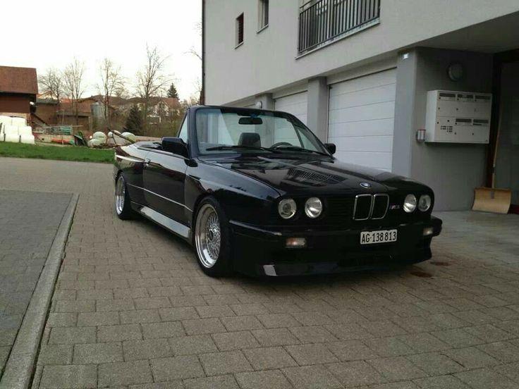 Bmw M3 E30 >> BMW E30 M3 cabrio black | BMW - Ultimate Driving Machine | Pinterest | Bmw e30 m3, Bmw e30 and E30